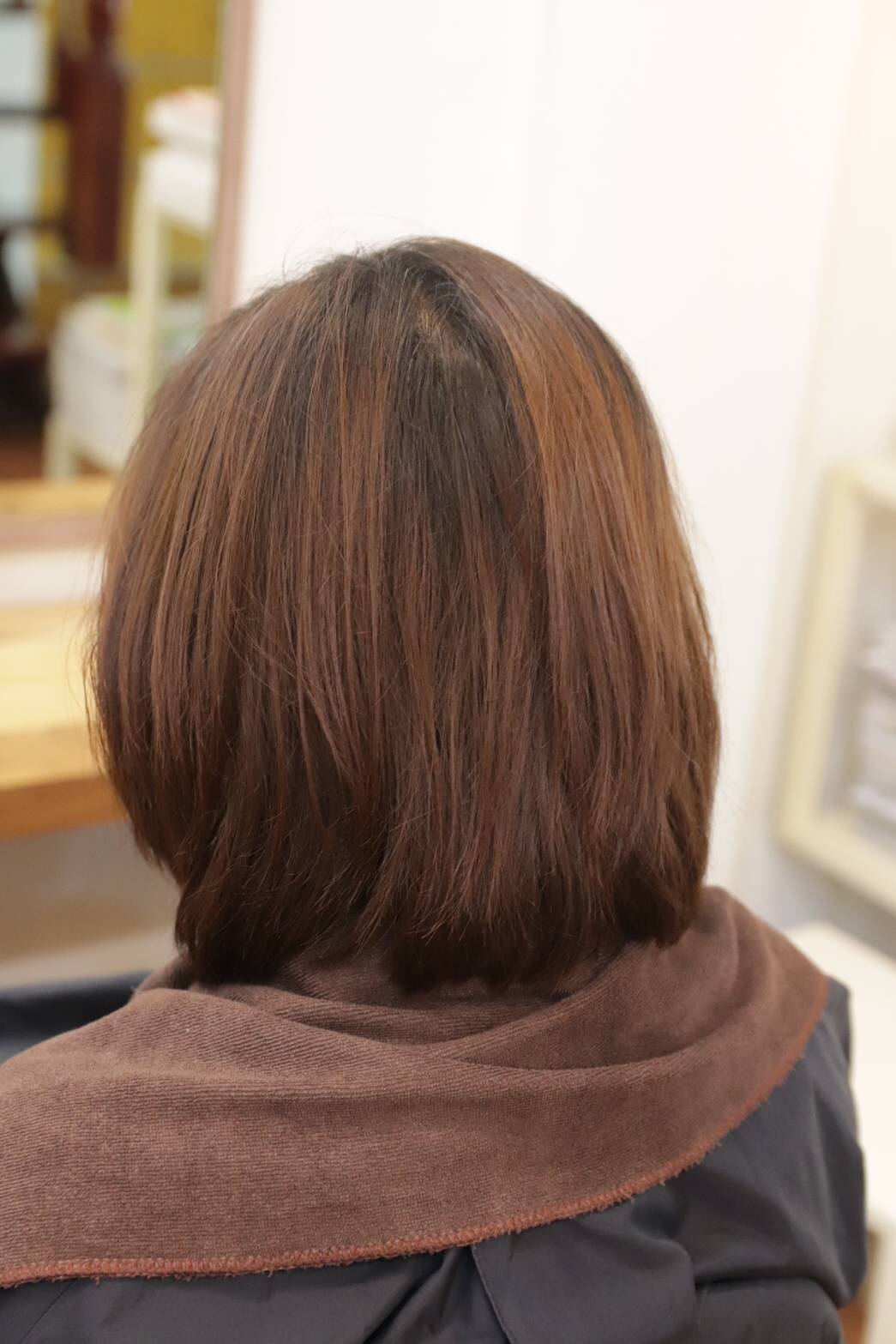 【NEVE】haircolor-pink-brown-before