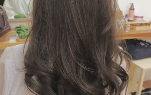 【NEVE】haircolor-matt-ash-gray-brown-curl-long-hairstyle